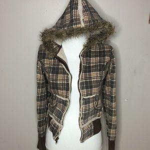 Jackets & Blazers - Brown Plaid Jacket E1